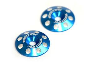 Exotek Racing 1678BLU Flite V2 16mm Aluminum Wing Buttons (2) (Blue)