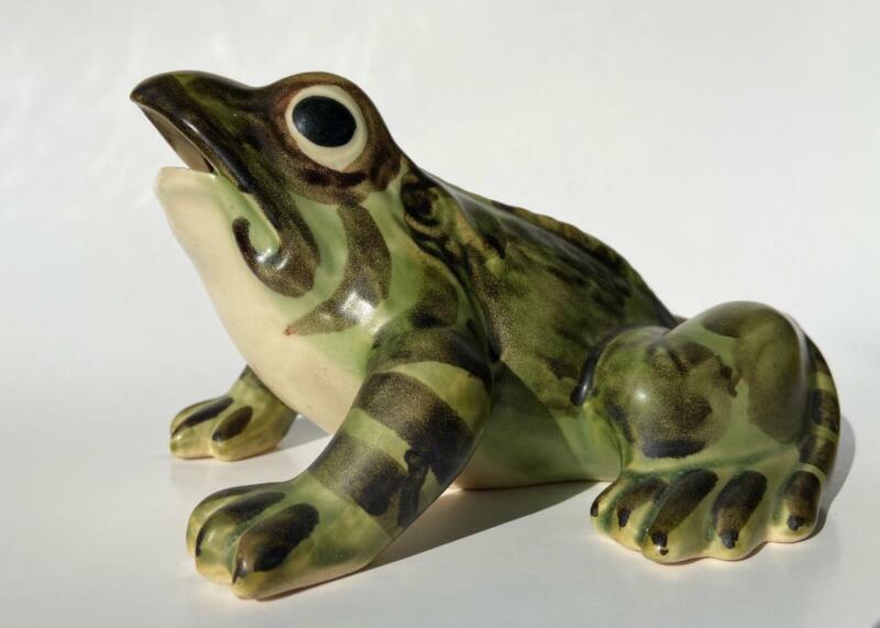 Brush Mccoy Ohio Art Pottery Open Mouth Frog No. 486 Garden Sculpture Figurine