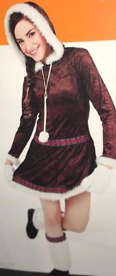 NEW ESKIMO KISSES CUTIE ALASKAN Dress HALLOWEEN COSTUME Adult size S 4-6 (Eskimo Cutie Costume)
