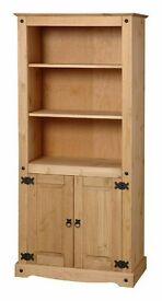 New Solid Corona Mexican Pine Bookcases in 5 styles FROM £49 ALL IN STOCK