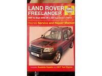 Landrovery freelander Haynes manual