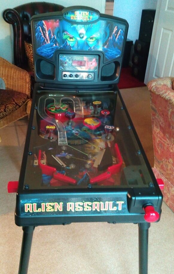 Pinball Machine (toy) Alien Assault electronic | in ...