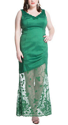 DC Comics Poison Ivy Size 14 Bombshell Green Fitted Formal Dress Lace Torrid Hot