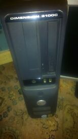 DELL DIMENSION PC COMPUTER. DVD WRITER, XP PRO, 80GB HDD, 6 X USB, 3.06GHZ CPU, 512MB RAM DDR