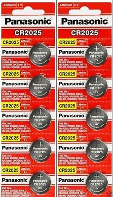 10 x Fresh PANASONIC CR 2025 CR2025 CR-2025 LITHIUM COIN CELL Battery Exp 2029