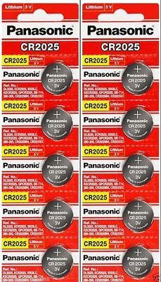 Cr2025 Coin Cell Battery - 10 x Fresh PANASONIC CR 2025 CR2025 ECR2025 LITHIUM COIN CELL Battery Exp 2027