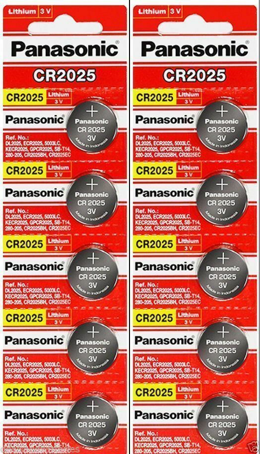 10 x Fresh PANASONIC CR 2025 CR2025 ECR2025 LITHIUM COIN CELL Battery Exp 2030 Consumer Electronics
