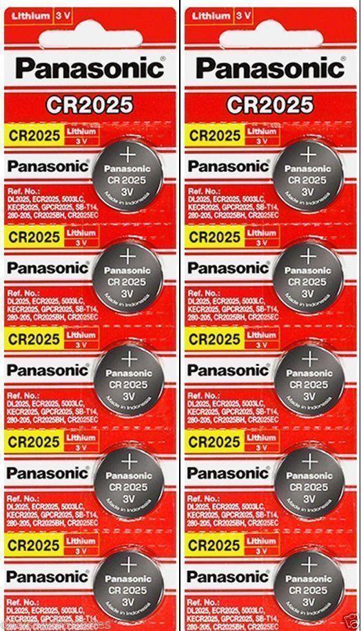 10 x Fresh PANASONIC CR 2025 CR2025 ECR2025 LITHIUM COIN CELL Battery Exp 2030 Consumer Electronics