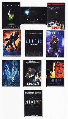 ALIEN / ALIENS - MOVIE POSTER FRIDGE MAGNETS (3 rare print vintage toys - Print Magnets