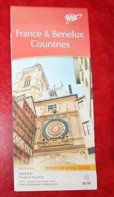FRANCE & BENELUX COUNTRIES  2014 - 2017 Edition AAA HIGHWAY MAP