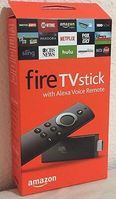 Brand New Amazon Fire TV Stick With Alexa Voice Remote - Media Streaming.