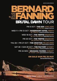 Bernard Fanning tickets Triffid Friday Oct 20 x 2