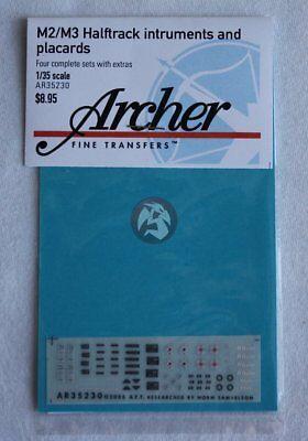 Archer 1/35 M2 / M3 Half-track Instruments & Placards (4 sets) (Dragon) AR35230 for sale  Sterling