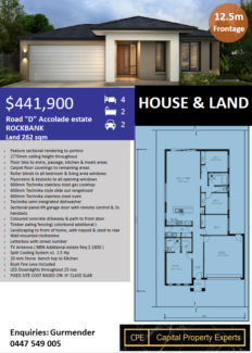 OFF PLAN. 5 lots available in ROCKBANK Melbourne, 34km NW of CBD
