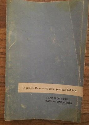 Vintage Tappan Owner's Guide, Instructions, Recipe, How to Use, Stove, Gas
