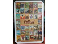 Fallout framed poster NEW