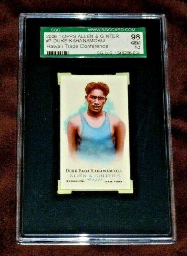 GEM MINT 10 DUKE KAHANAMOKU 2006 TOPPS ALLEN & GINTER CARD SGC 98 Hawaii Trade