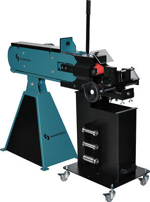 Scantool 75rb 3 Industrial Belt Grinder With Notcher Attachment - 220v 3ph