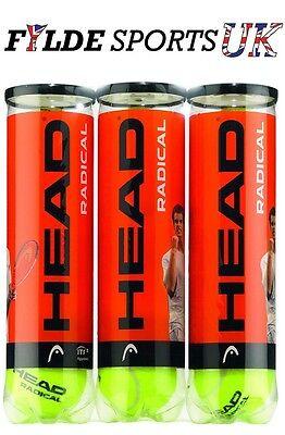 Head Radical Tennis Balls – 1 Dozen – Free 48hr P&P - Best UK Price