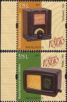 Moldova 2019 Vintage Radio Sets/Broadcasting/Entertainment/Music 2v set (md1042)