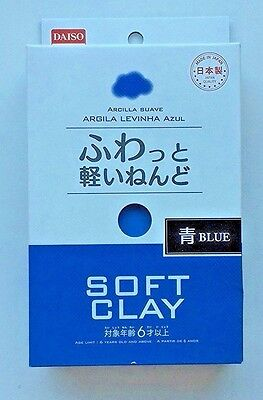DAISO JAPAN Arcilla Suave Lightweight Modeling AirDry Blue DIY Soft Clay