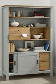 Next Oak and Grey Display Cabinet/Dresser