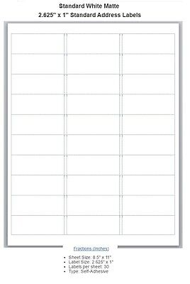 Blank Address Labels Different Sizes Buy 3 Get 1 Free Bl1