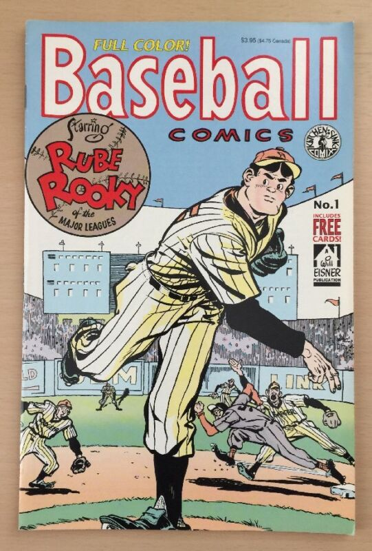 Baseball Comics #1 (1991, Kitchen Sink Comix) Contains Trading Cards - Must See!