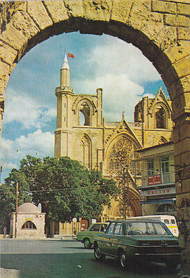 CYPRUS POSTCARD FAMAGUSTA SAINT NICHOLAS CATHEDRAL EARLY TURKISH EDITION C 1975