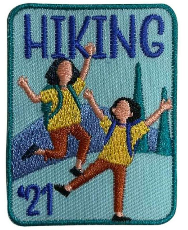Boy Girl Trail HIKING HIKE 2021 trip Fun Patches Crests GUIDES/SCOUTS Miles Day