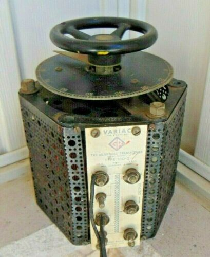 Vintage General Radio Variac Type 100-Q ADJUSTABLE TRANSFORMER
