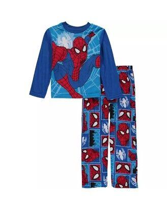 Marvel Ultimate Spider-Man Boy's 2 Piece Fleece Pajama Set NWT Size 4  Sleepwear