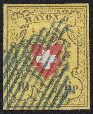 Schweiz Rayon Mi.Nr. 8 II gestempelt Mi.Wert 130€ (1272)