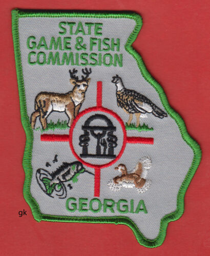 GEORGIA STATE GAME & FISH COMMISSION  POLICE  SHOULDER PATCH