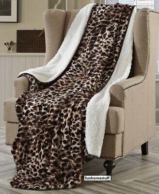 Regal Comfort Sherpa Luxury Throw Cheetah Print