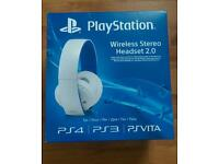 PlayStation Wireless Stereo Headset 2.0 - White *BRAND NEW + UNOPENED*