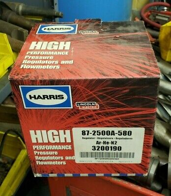 Harris 87-2500a-580 Argon Helium Nitrogen 8700 Series Regulator 3200190