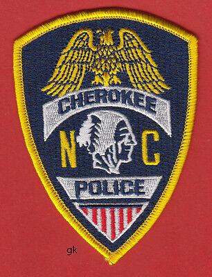 CHEROKEE  NORTH CAROLINA  TRIBAL POLICE SHOULDER PATCH