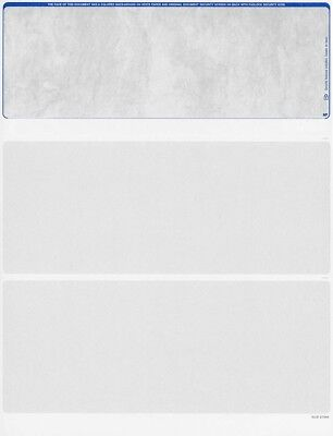 Blank Check Stock - 500 Blank Laser Computer Security Check Paper Stock - Checks on Top (Stone Blue)