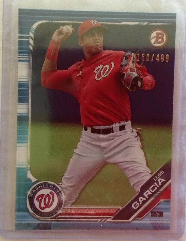 2019 Bowman Paper Blue Luis Garcia 160/499 Nationals Prospect