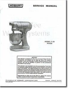 Hobart N50 Mixer Operator Parts Amp Service Manuals Set Ebay