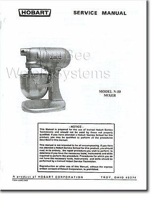 Hobart N50 Mixer Operator Parts Service Manuals Set