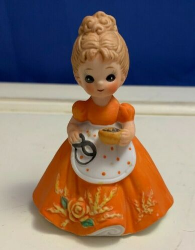 """Vintage Josef Originals George Good October Figurine with Mask & Candy 3.75"""""""
