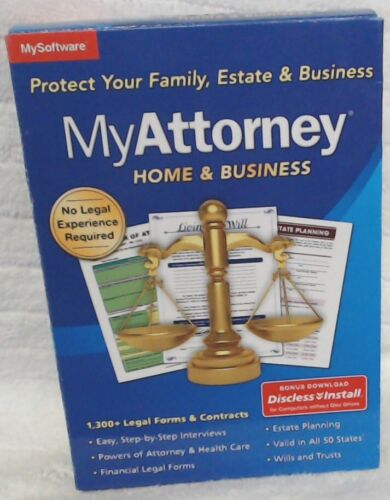 NEW My Attorney Home & Business Software