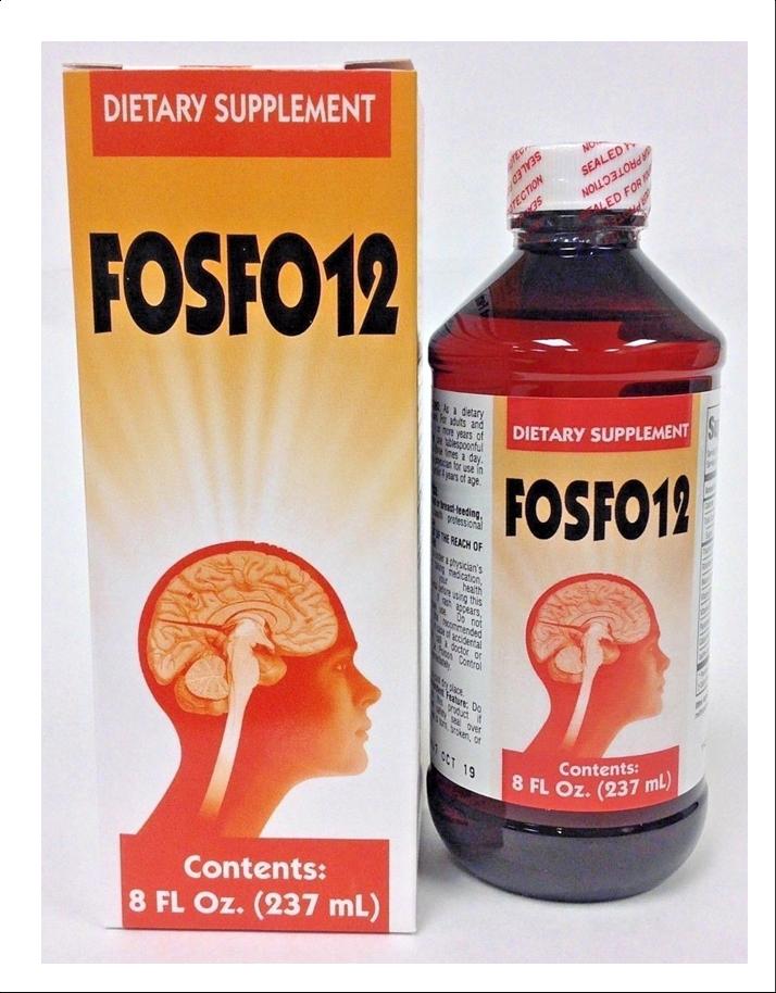 FOCUS FOSFO 12 JARABE Restorative Neurocerebral, to Improve Memory concentration