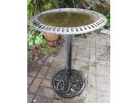 Wrought Iron Bird Bath