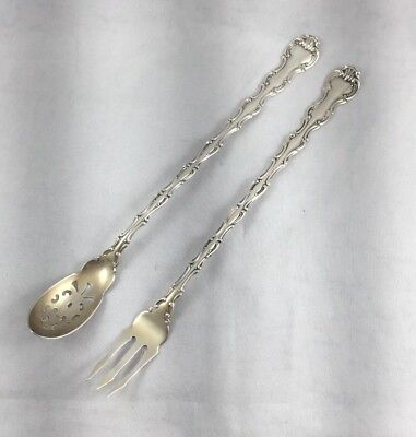(Strasbourg by Gorham Sterling Long Handle Pickle / Olive Fork and Spoon)