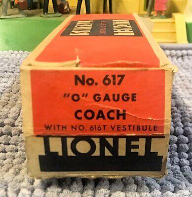 Rare Prewar Lionel 617 Flying Yankee Box - Some Tape Repair & Missing End Flap