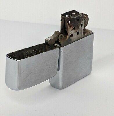 Vintage Zippo cigarette lighter steel case plain used 5 barrel 16 hole insert
