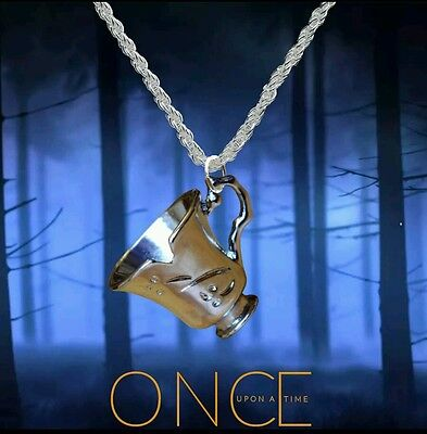 Free Shipping  6 pcs lot Once Upon a Time Belle chipped teacup Necklace